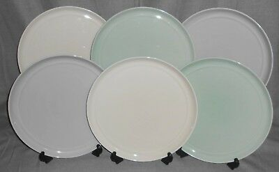 Set (6) Crate u0026 Barrel HUE PATTERN Dinner Plates AARON PROBYN Three Colors & SET (6) CRATE u0026 Barrel HUE PATTERN Dinner Plates AARON PROBYN Three ...