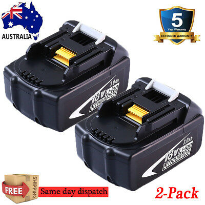2x 18V 3.0AH Battery For Makita BL1840 BL1830 BL1815 LXT Lithium Ion Cordless AU