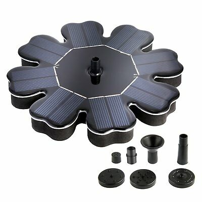 Outdoor Solar Power Bird Bath Water Fountain Pump For Pool Pond Garden Aquarium