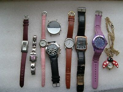 job lot of 9 working watches including ben sherman used selling as spares/repair