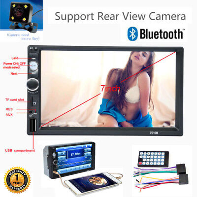 7 inch Double 2DIN Car MP5 Player Bluetooth Touch Screen Stereo Radio USB/TF/FM
