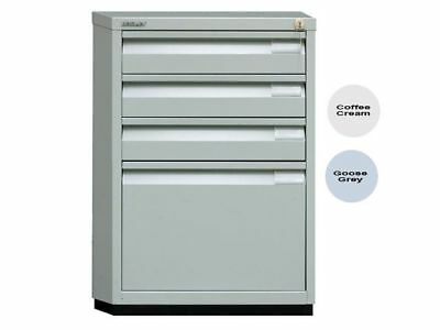 Bisley 1F3E Filing Cabinet Goose Grey Multidrawer Steel - NEW - FREE UK DELIVERY