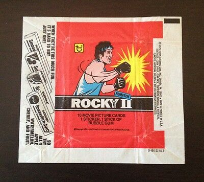 1979 Topps Rocky II (2) - Wax Pack Wrapper