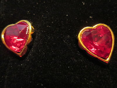 Vtg. Avon True To The Heart Red Earrings W/surgical Steel Posts 1992*new In Box*
