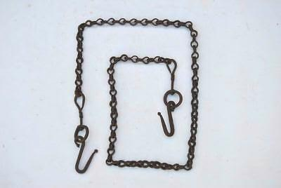 Vintage heavy swing hanging chain w hook handforged wrought iron 33oz 75""