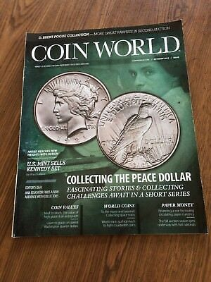 COIN WORLD MAGAZINEs (2014 - 2018) - 32 magazines, used, excellent condition