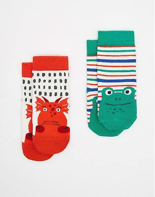 Joules 124732 Baby Boys Two pack Thermo Regulating Bamboo Socks in Dragon