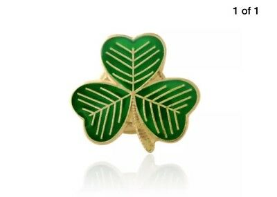 2 St Patricks Shamrock  Pin Badges - (Lucky Irish Shamrock Pin Badge)