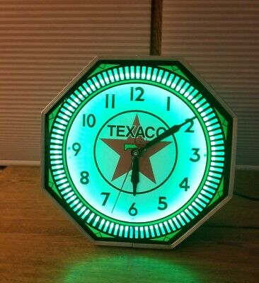 Vintage Npi Neon Clock Restored In Texaco