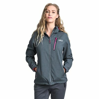 73b3f77277 TRESPASS RONDA WOMENS DLX Softshell Jacket in Grey   Purple - £26.99 ...