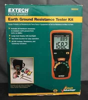 Extech Earth Resistance Tester Kit 382252 NEW!