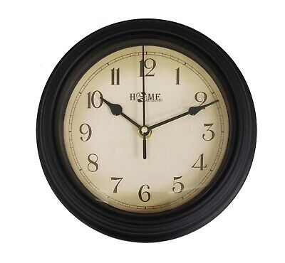 Uniware Antique Style Round Shape Wall Clock 9'' x 9'' x 1.8'' (Bronze)