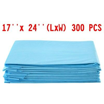 300PCS 17'' x 24'' Non-woven Fabric Pet Dog Cat Pads Wee Pee Piddle Pad Training