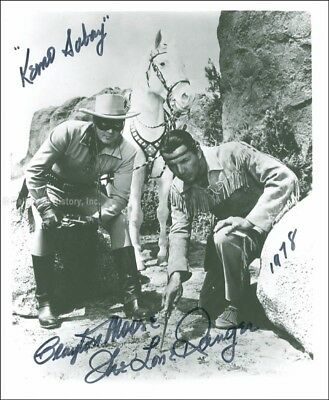 "Clayton ""The Lone Ranger"" Moore - Photograph Signed 1978"
