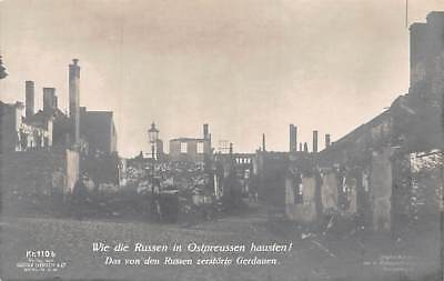 EAST PRUSSIA, GERMANY, RUINS FROM RUSSIAN ACTION IN WORLD WAR ONE, c. 1914-18