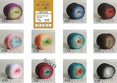 multi coloured gradient yarn cake KATIA Rainbow WENDY Evolution MONDIAL Primaver