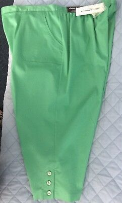 252faa5ce5d Alfred Dunner Kiwi Green Bahama Bays Pull On Capris 24W Womens 24W  52  FreeShip