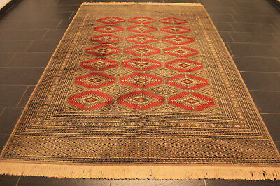 Alter Gewebter Orient Teppich Afghan Yomut Jomut Carpet Tappeto Rug 300x200cm