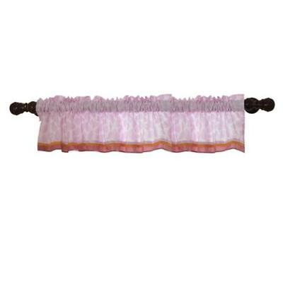 Lambs & Ivy Company Window Valance, Lil Friends Pink Nursery Baby Room