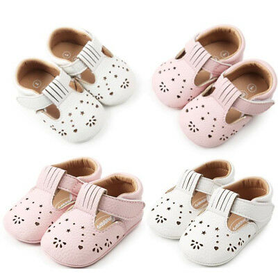 Hot Newborn Girls Leather Shoes Hollow Out Toddler First Walkers Shoes Sneakers