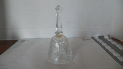 """Vintage Artmark  The Lords Prayer Crystal Glass Bell, 1994 Collectible 5"""" Bell"""
