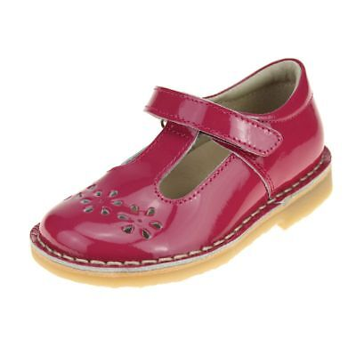 Petasil Cecily Girls Fushia Shoe size eu kids children hook loop leather