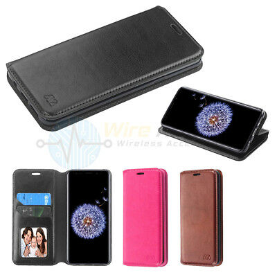 Samsung GALAXY S9 /Plus Leather Flip Wallet Stand Pouch Card Phone Case Cover