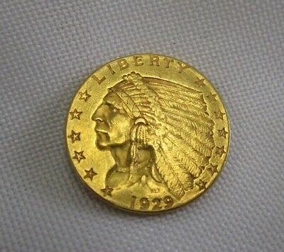 1929 2.5 Dollar Gold US Indian Head Coin