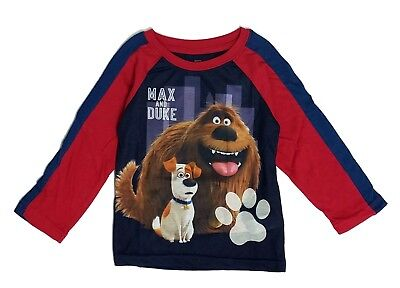Toddler Boys Long Sleeve Tee Shirt Character Graphic Secret Life of Pets 2T- 5T