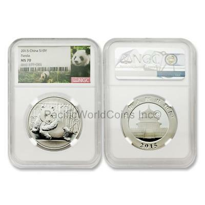 China 2015 Panda 1 oz Silver NGC MS70 SKU#6471