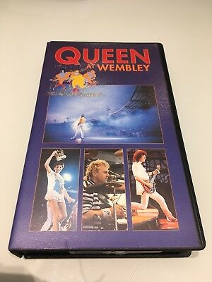 Queen at Wembley VHS video. July 1986.