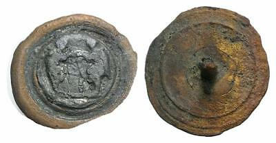 Lac Lovely Medieval  Bronze Button  Xii- Xvi Cent Ad !!! (R15)