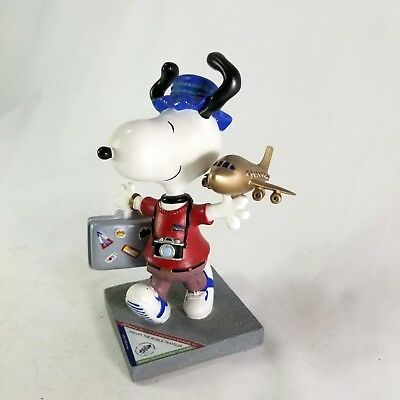 Schulz Snoopy Peanuts - The World Traveler - Westland Giftware #8403