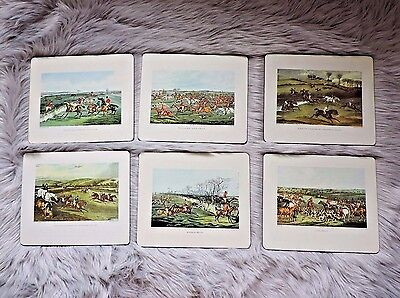 Vintage Equestrian Plaques 1800's British Sporting Prints 7.75 X 9.25 Lot of 6