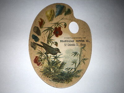 Antique Victorian Trade Card/brazillian Coffee Co.52 Columbia St. Albany,n.y.