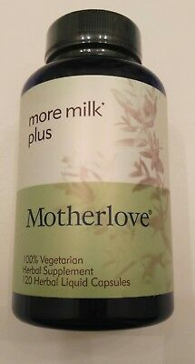 Motherlove ® More Milk Plus  100% Vegetarian Herbal Supplement 120 ct Exp 2020