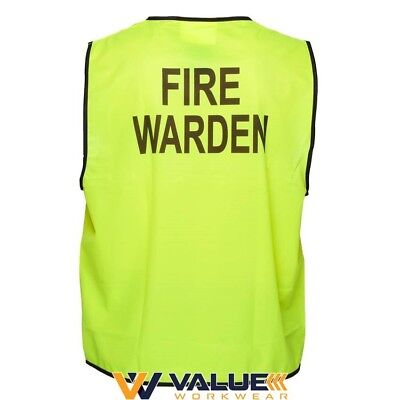 Prime Mover Hi-Vis Day Vest 'Fire Warden' MV118 Value Workwear