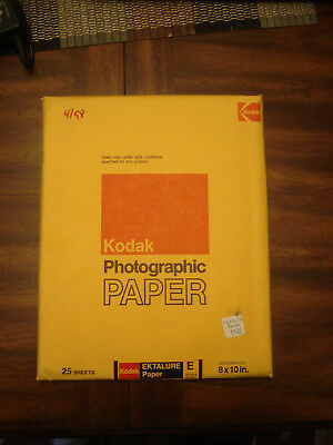 Kodak Ektalure Fiber Base paper E DOUBLE WEIGHT *SEALED* 8x10 25 pack rare!