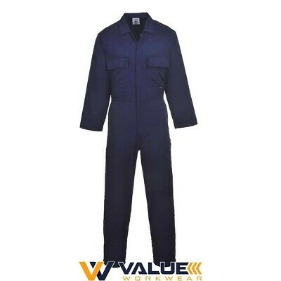 Portwest Euro Work Polycotton Coverall S999 Value Workwear