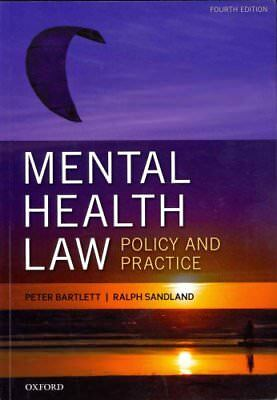 Mental Health Law: Policy and Practice by Peter Bartlett 9780199661503
