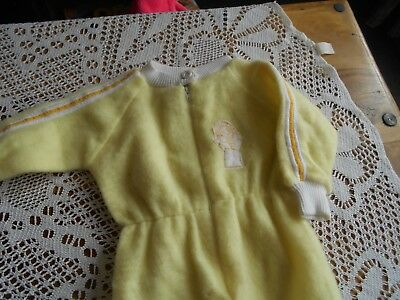 vintage baby sleep suit fleece with zip. Age 0..9 monthes.date approx 70.s