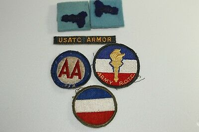 Vintage Ww2 Korean War Us Military Patch Lot Of 6 Army Rotc Armor Anti Aircraft