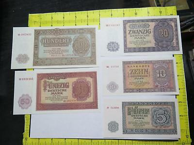 Germany 1955 Ddr Deutsche Notenbank Mark Au/unc Banknote Currency Collection Lot