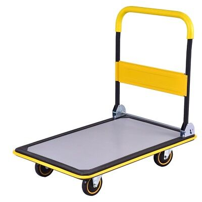 Folding 660lbs Platform Cart Dolly Hand Truck Ease Transport Heavy Large Loads