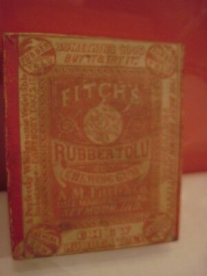 Fitch's Rubber Tolu Chewing Gum Empty Box Seymour, Ind. Substitute for Tobacco