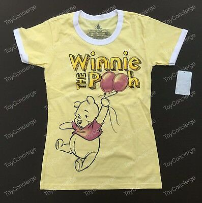 cd06d7f3 DISNEY Store TEE for Women WINNIE THE POOH Yellow T Shirt PICK Size NWT
