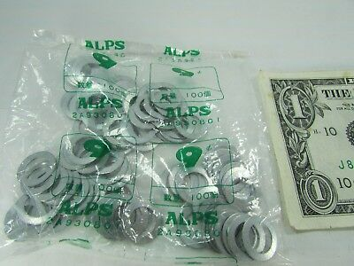 Lot of 100 Alps Switch Washers, Flat Shim Washers, 14MM OD x 9MM ID 2A930A01