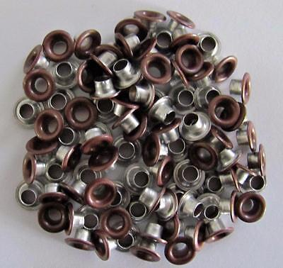 "3/16"" Large Eyelets ANTIQUE COPPER pk of 50 round scrapbooking craft eyelet"