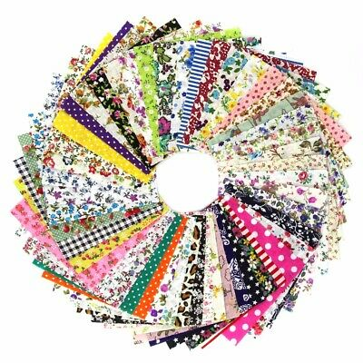 Pre-Cut Fat Quarter Bundle Cotton Quilt Fabric Sewing Patchwork Assorted DIY