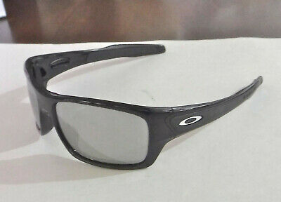 f00cfdbabc New Oakley Turbine Sunglasses Black   Custom Polarized Chrome Irid w Silver